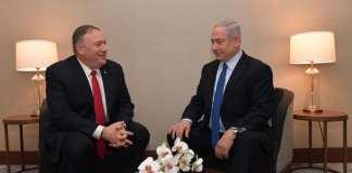Pompeo és Netanjahu Lisszabonban - fotó: GPO
