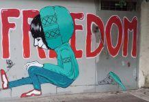 Graffiti Haifán - fotó: Surányi Ráchel