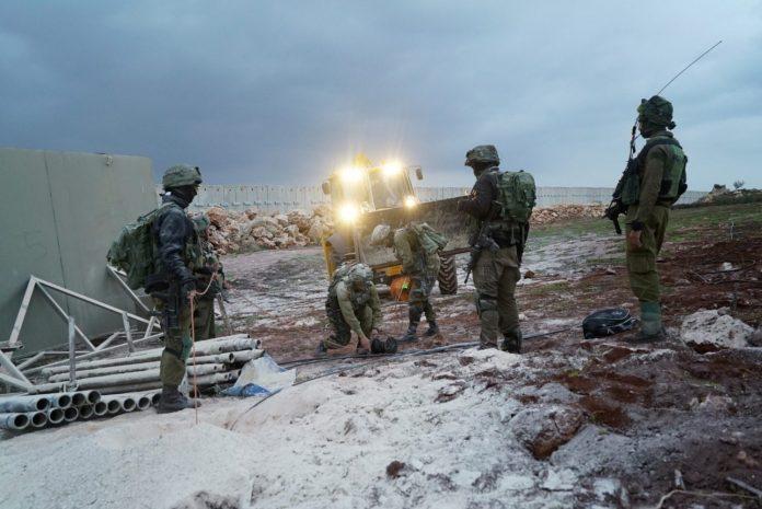 Katonák Izrael északi határán - fotó: IDF