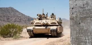 TROPHY aktív védelmi rendszerrel felszerelt tank - fotó: Rafael Advanced Defense Systems
