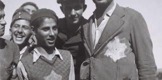 Holokauszt túlélők az atliti bevándorló táborban, 1944 - fotó: Kluger Zoltán