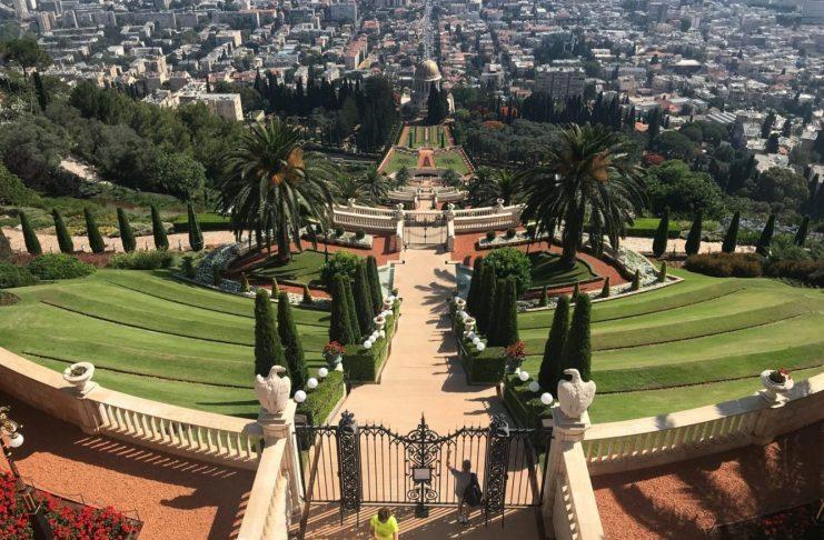 Felülről a Bahai kertek, ne mindig csak alulról nézzük - fotó: a szerző