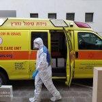 Az Izraeli Mentőszolgálat (Magen David Adom) egyik alkalmazottja védőruhában, Tel-Aviv, 2020. március 17. - fotó: Talmoryair / Wikipedia