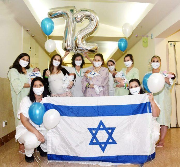 A Szoroka Kórház szülészeti osztályának munkatársai - fotó: Rachel Daviv / Egészségügyi Minisztérium