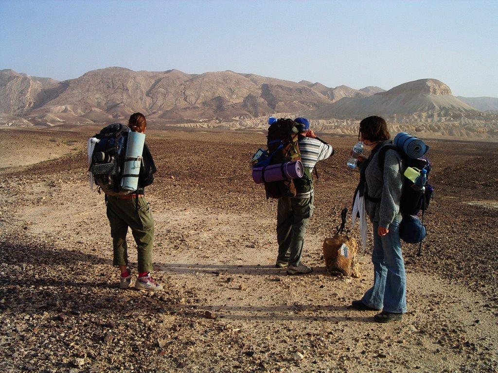 Hosszú és fárasztó az út, de megéri végigmenni rajta. Első sivatagi túránk, 2000 - fotó: frankpeti