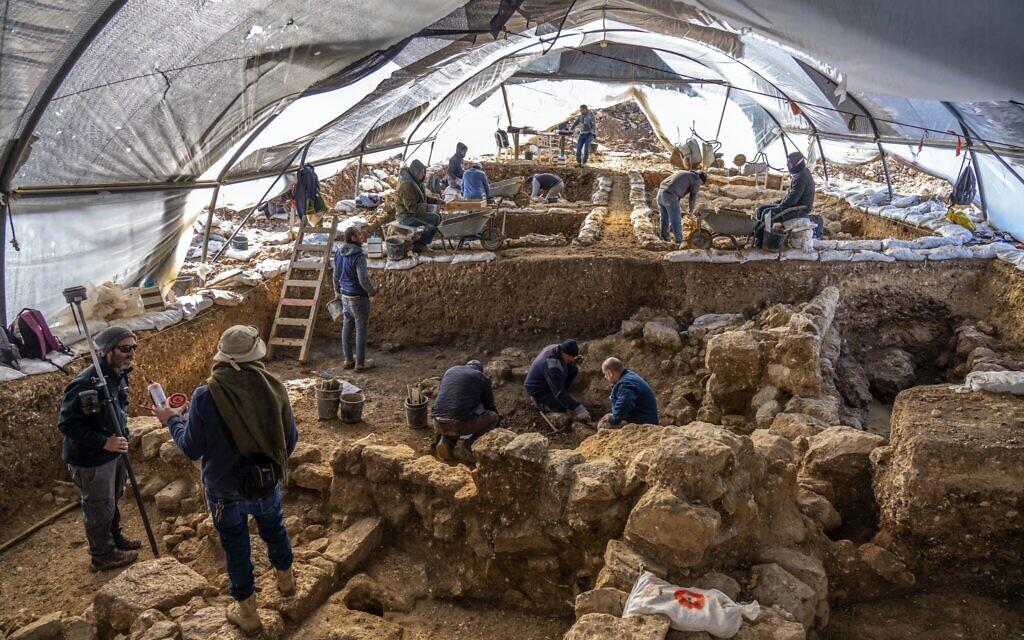 Az Izrael Régészeti Hatóság a jeruzsálemi Arnona negyedhez közeli lejtőkön feltárt egy 2700 évvel ezelőtti adminisztratív komplexumot - Yaniv Berman / Izrael Régészeti Hatóság