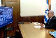 Benjamin Netanjahu a kormányülésen - fotó: Itai Beit On / GPO