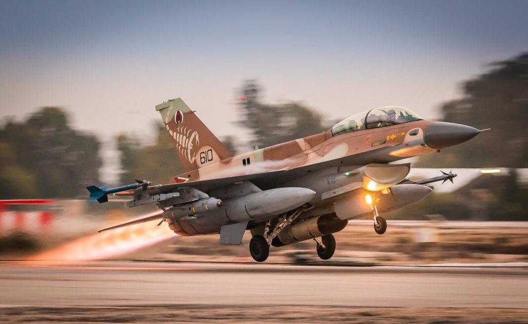Egy izraeli F-16-os vadászgép, amely részt vesz a németországi hadgyakorlaton - fotó: Izrael Védelmi Erők