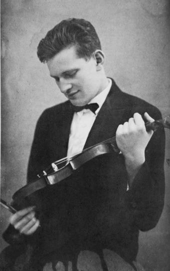 Pártos Ödön tanulmányai végeztével, Luzernben, 1927