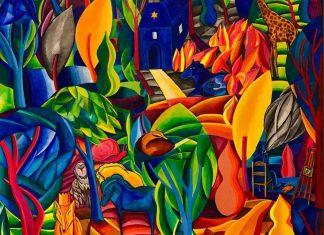 A festmény adatai: Győri Márton: Ha kérdik egyszer (2020, olaj-vászon 70×70 cm, magángyűjteményben)