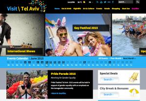 Reklama Tel Aviv Pride Parade na stronie Visit Tel Aviv - oficjalnej stronie promocji miasta