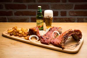 pivo sa mesom, slika