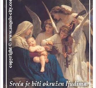 """Poruke Anđela: """"Sreća je biti okružen ljudima koji te vole. Posveti vrijeme i pažnju svojim bližnjima!"""""""