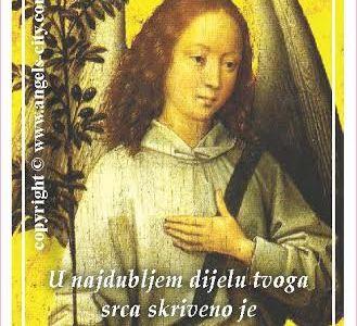 """Poruke Anđela: """"U najdubljem dijelu tvoga srca skriveno je znanje Svemira. Vjeruj svome osjećaju!"""""""