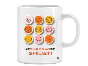 Ne zaboravi se smijati - dizajnerska šalica (iz serije Afirmacije i motivacije)