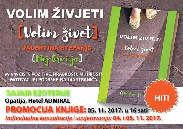 Volim živjeti – volim život! Promocija knjige Valentine Štefanić u Opatiji na sajmu Ezoterije
