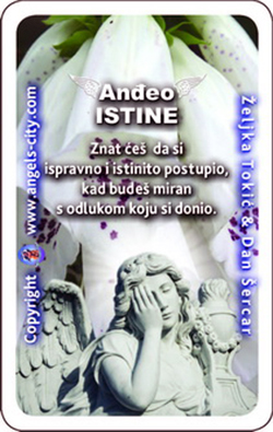 Anđeo s tobom! Anđeoska karta tjedna, Anđeo istine