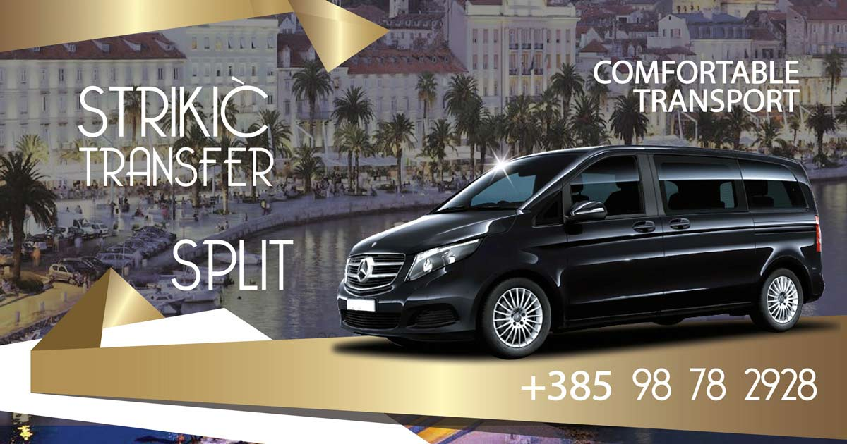 Luxurious and Comfortable Transfer from Split Airport to Split, with a professional and safe, driver and a luxurious, comfortable and safe car, Transfer from Split Airport to Dubrovnik, Zadar, Makarska, Sibenik, Plitvice Lakes, Medjugorje, Omis or to any place in Croatia, Luxury Excursions carriage on relations Split-Dubrovnik, Split-Zadar, Split-Zagreb, Split-Plitvice Lakes, and Excursions to all destinations in Croatia – Strikić transfer Split