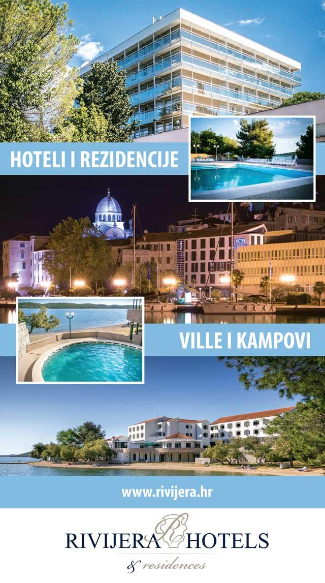 Rivijera hoteli i kampovi u popularnim turističkim destinacijama šibenske Rivijere - Vodicama, Šibeniku i Pirovcu, kristalno čisto more i plaže, netaknuta priroda, ostac