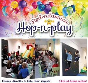 Rođendanska proslava u rođendaonici i igraonici Hop-n-play Novom Zagrebu, proslavite dječji rođendan uz bogate sadržaje te najbolji slavljenički akcijski paket, Hop and play dječji rođendan, rođendaonica Novi Zagreb povoljne cijene