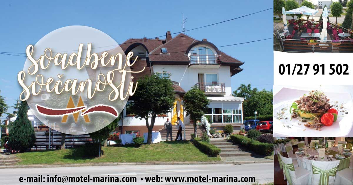 Vrhunski domaći i intenacionalni restoran i catering, motel prenoćište Marina organizira nezaboravne kreativne svadbene proslave, svadbe, proslave krštenja te druga obiteljska slavlja, promocije, poslovne domljenke u vašem prostoru, te nudi internacionalnu i domaću kuhinju uz najbolju poslovnu ili obiteljsku prslavu i zabavu za do 100 osoba u svom restoranu u mjestu Vrbovec u blizini Zagreba