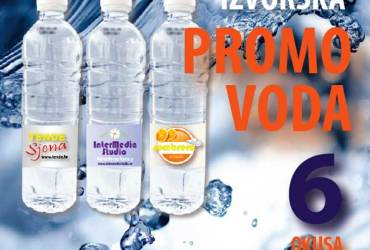 Promo voda, brandirana izvorska voda je voda visokokvalitetna voda s vasim logotipom