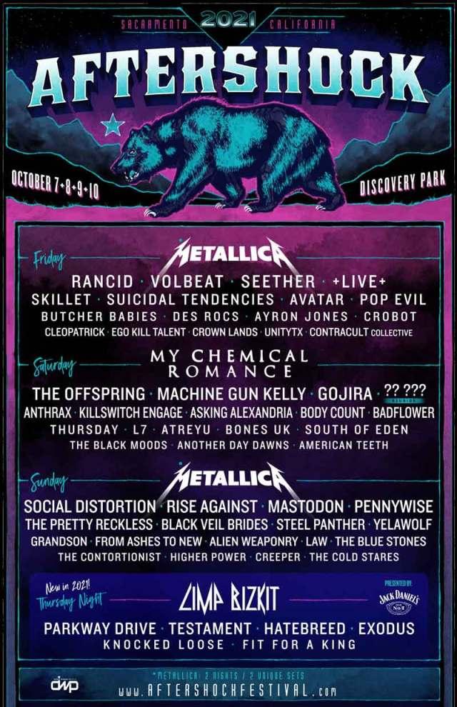 Metallica, Pennywise, Offspring 2021