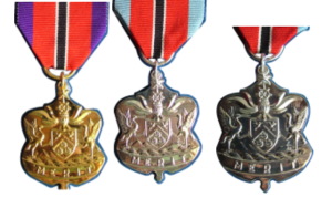 Public Service Medals of Merit Gold Silver and Bronze