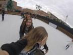 ChaCha line ice skating