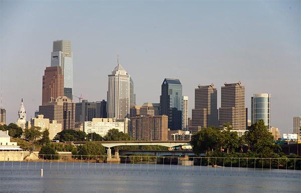 skyline from Camden view