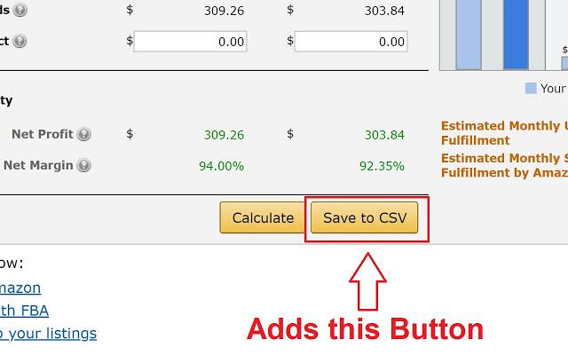 chrome extension save fees as CSV