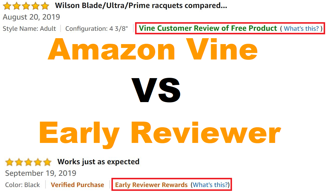 Amazon Vine vs Early Reviewer