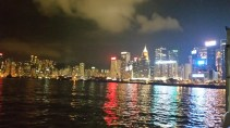 View from Star ferry on the way back from Kowloon