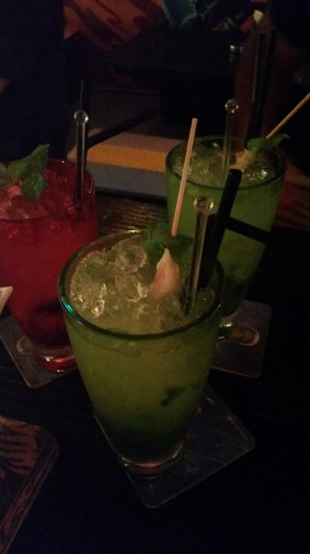Lychee mojitos that tasted like they had next to no alcohol -_-