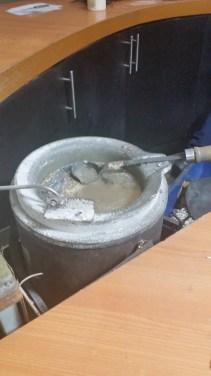 Melting the alloy
