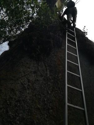 Final climb...