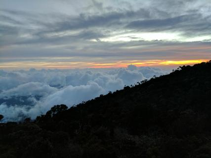 Sunset above the clouds :)