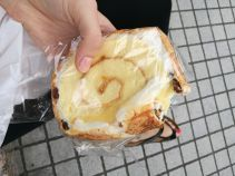 So many bakeries in taiwan! Had this snack on the go