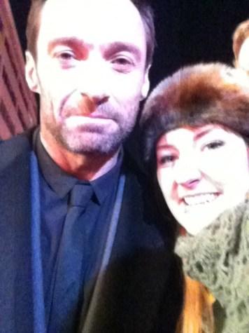Meg og selveste Wolverine, Hugh Jackman.
