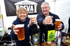 SW26316A Chester Racecourse, The Chester Food, Drink & Lifestyle Festival. Picture Lindsey and Adrian Gilbody of Deva Craft Beer of Sandycroft.