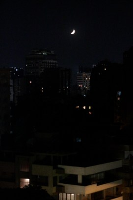 moon from the rooftop