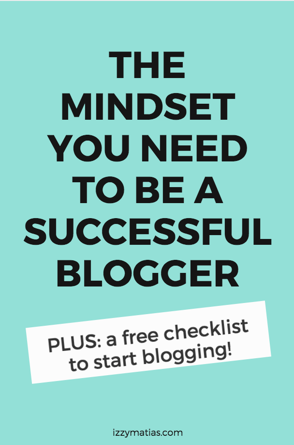 Find our what is the right mindset you need to have in order to be a successful content creator. Mindset matters! #successmindset #bloggingtips