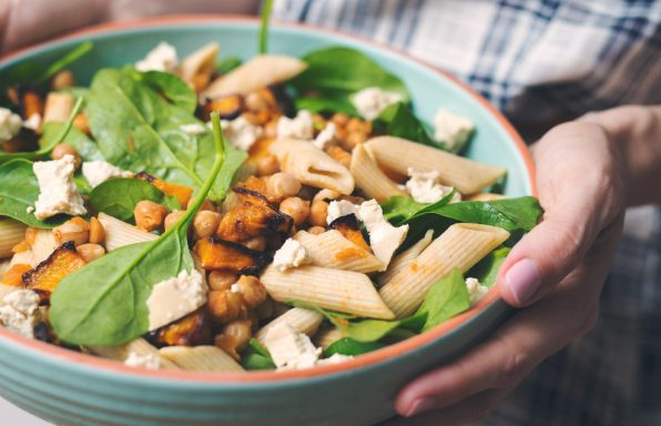 Pumpkin And Chickpea Pasta Salad