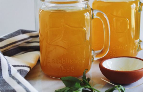 Detox Vegetable Broth With Turmeric And Ginger