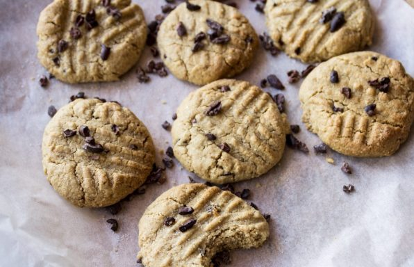 Salted Peanut Butter Cacao Nib Cookies