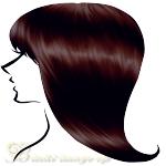 ブルべ髪色ダークブラウン