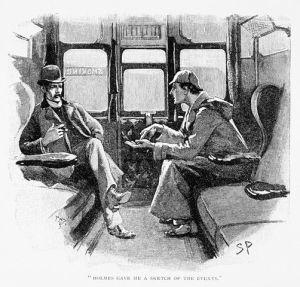 Sherlock Holmes & Dr. Watson by Sidney Paget (1860-1908) (Strand Magazine)