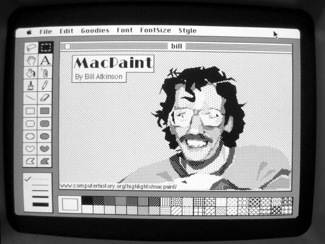 Bill Atkinson, creator of the original MacPaint, painted in MacPaint. (Daniel Rehn, CC BY 2.0)