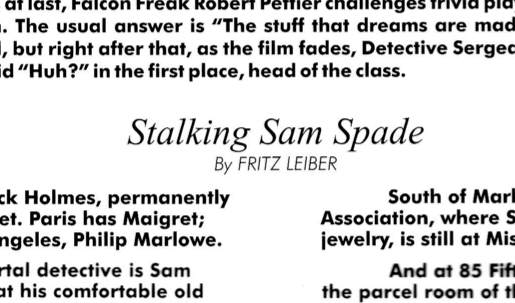 Stalking Sam Spade