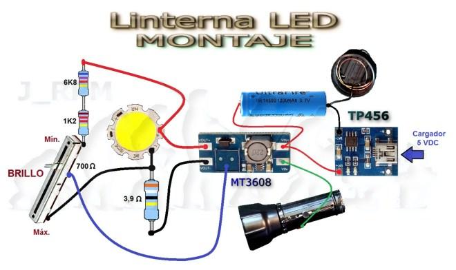 Montaje - Linterna LED